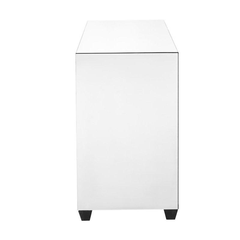 Elegant Decor 39.5 inch Crystal three drawers Cabinet in Clear Mirror Finish (MF91010)