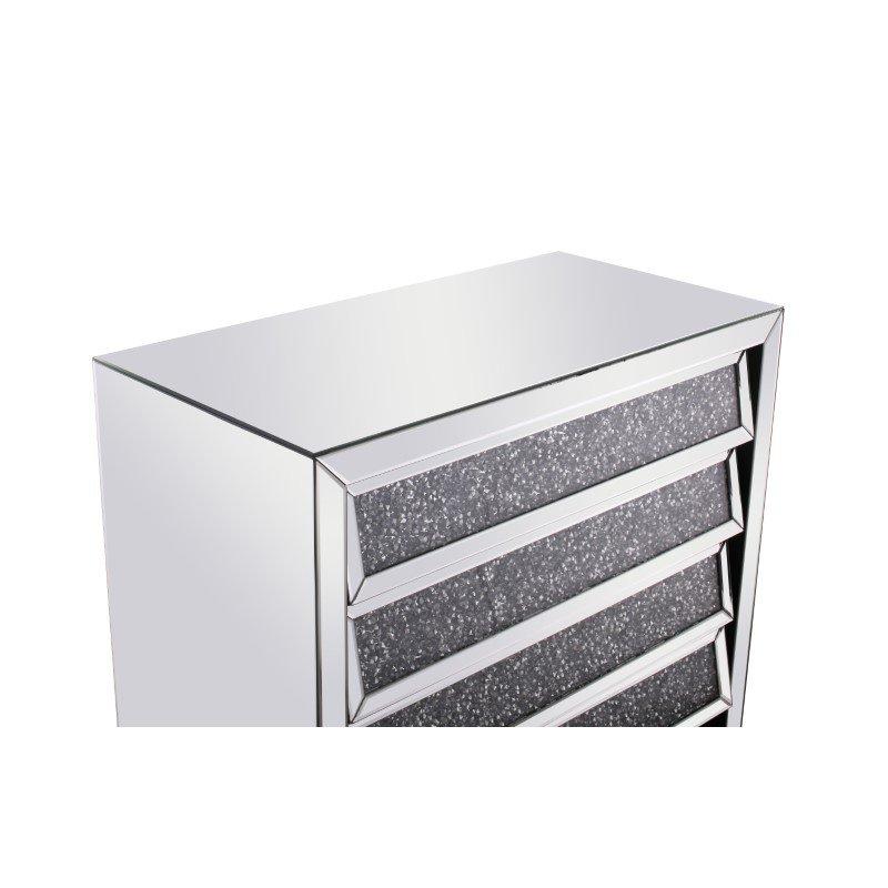 Elegant Decor 39 inch Crystal Cabinet Silver Royal Cut Crystal (MF92013)