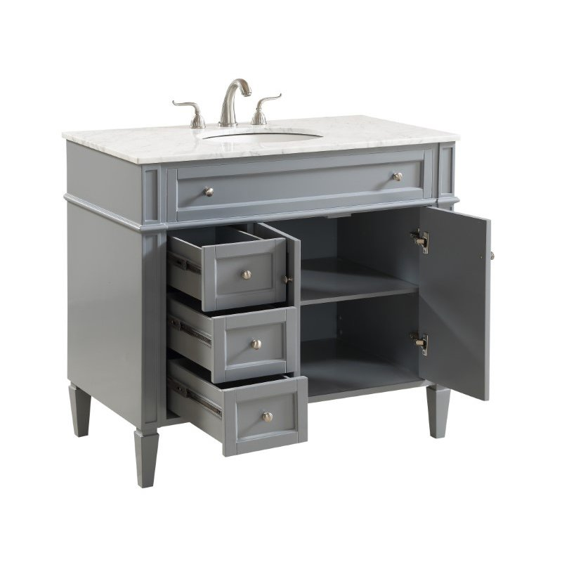 Elegant Decor 40 in. Single Bathroom Vanity Set in Grey (VF12540GR)