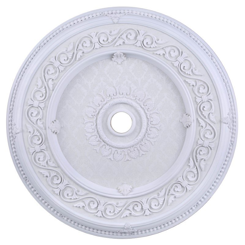 Elegant Decor 43 in. Ceiling Medallion in frosted white (MD211D43WH)