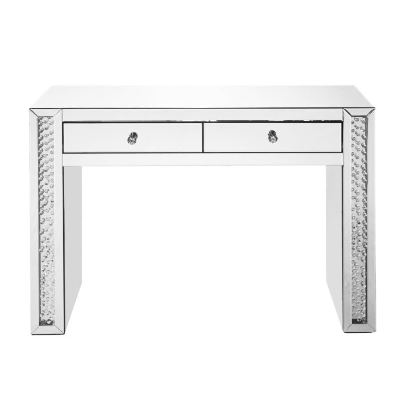 Elegant Decor 47 inch Rectangle Crystal Vanity Table in Clear Mirror Finish (MF91017)
