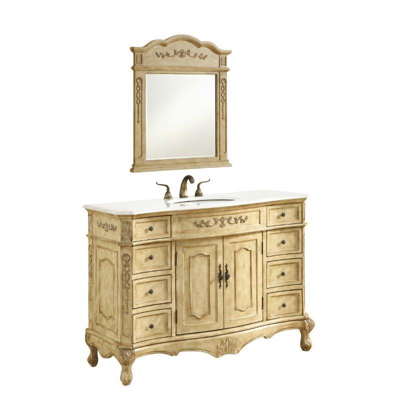 Elegant Decor 48 in. Single Bathroom Vanity Set in Antique Beige (VF10148AB)