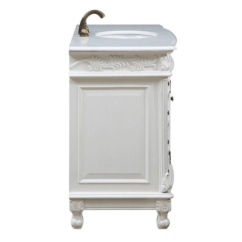 Elegant Decor 48 in. Single Bathroom Vanity Set in Antique White (VF-1039)