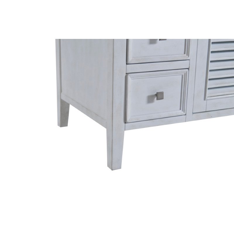 Elegant Decor 48 in. Single Bathroom Vanity Set in Antique White (VF10448AW)