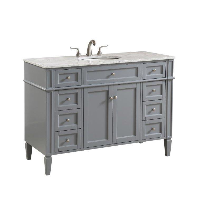 Elegant Decor 48 in. Single Bathroom Vanity Set in Grey (VF12548GR)