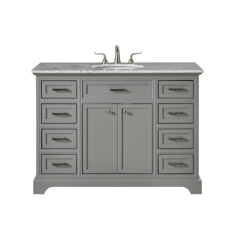 Elegant Decor 48 in. Single Bathroom Vanity Set in Light Grey (VF15048GR)