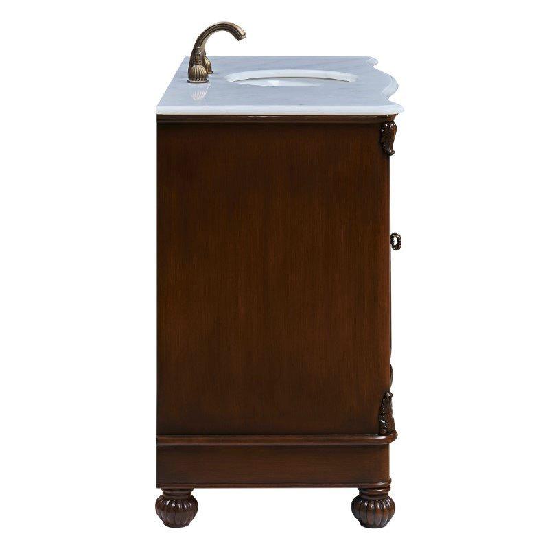 Elegant Decor 48 in. Single Bathroom Vanity Set in Teak Color (VF-1034)