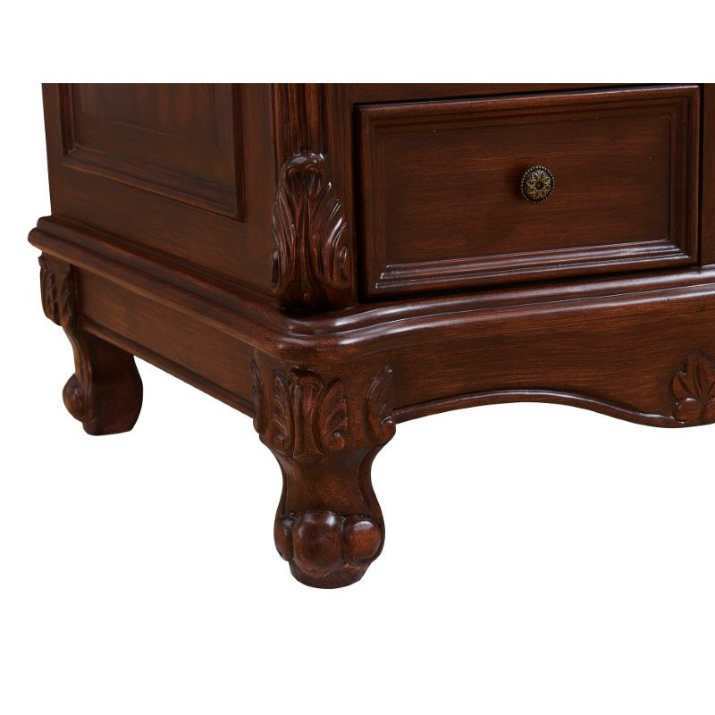 Elegant Decor 48 in. Single Bathroom Vanity Set in Teak Color (VF-1040)