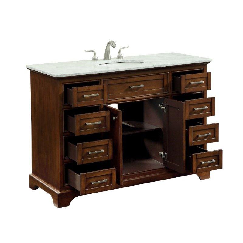 Elegant Decor 48 in. Single Bathroom Vanity Set in Teak (VF15048TK)
