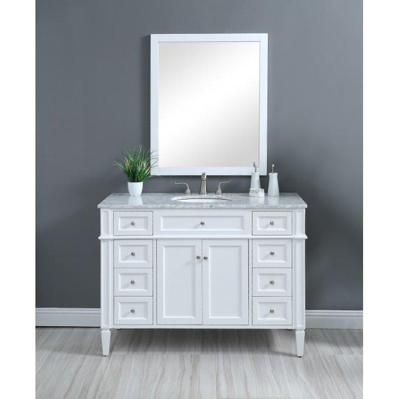 Elegant Decor 48 in. Single Bathroom Vanity Set in White (VF12548WH)