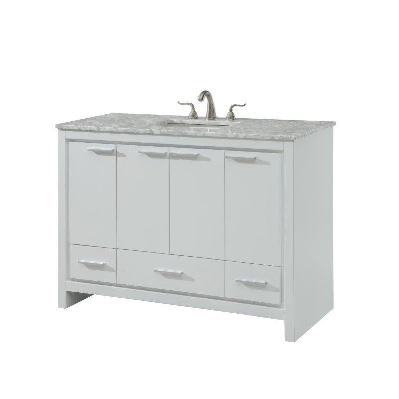 Elegant Decor 48 in. Single Bathroom Vanity Set in White (VF12848WH)
