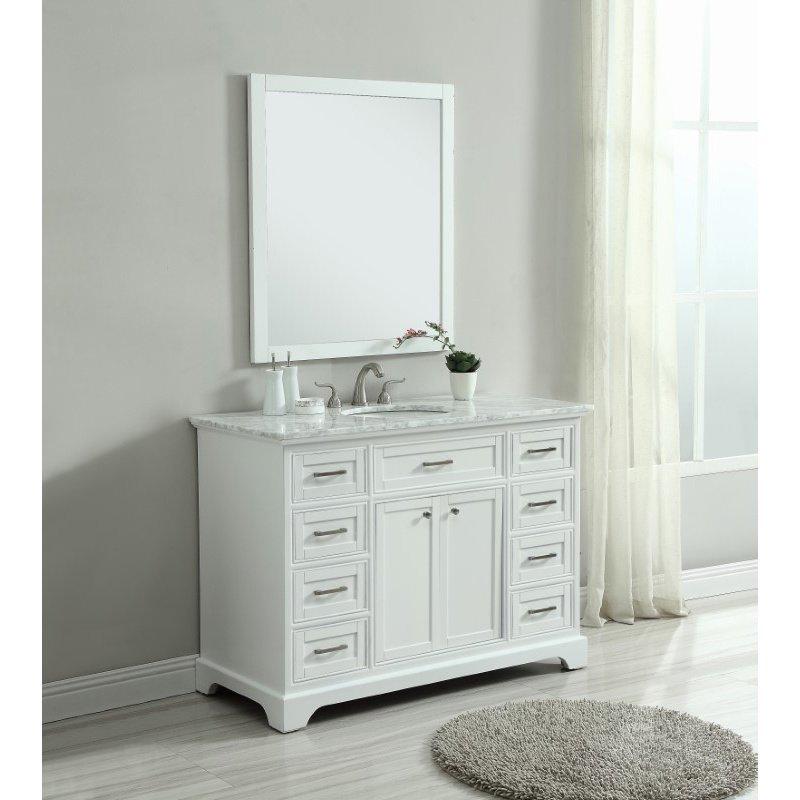 Elegant Decor 48 in. Single Bathroom Vanity Set in White (VF15048WH)