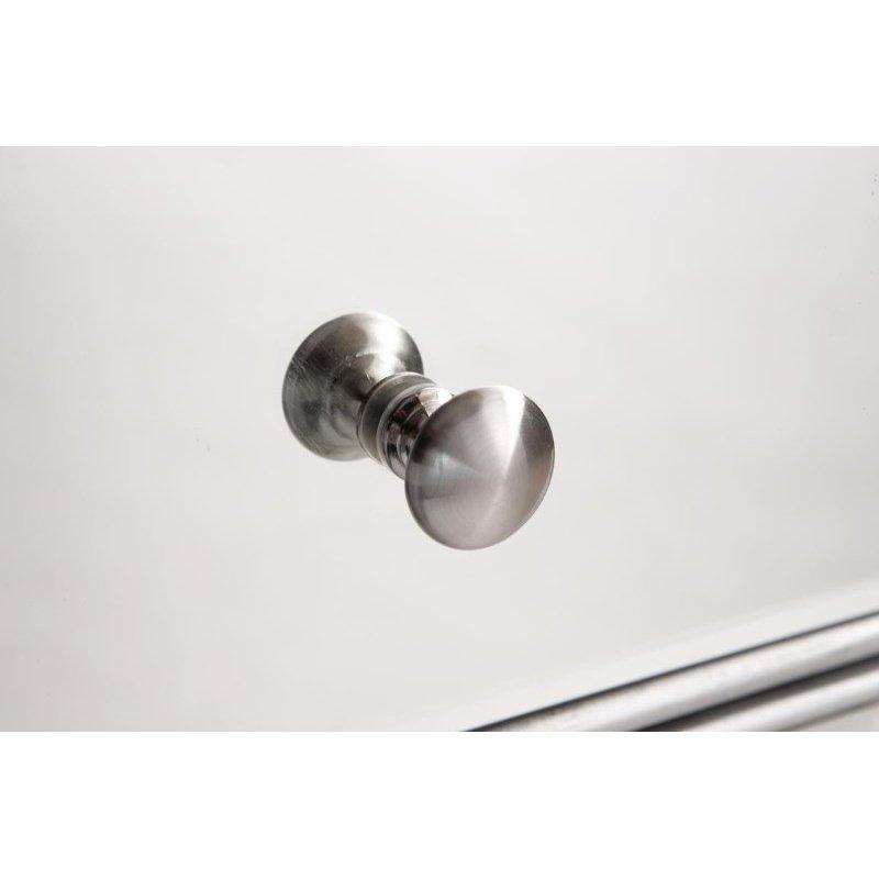 Elegant Decor 5 Drawer Cabinet 33 in. x 16 in. x 49 in. in Silver paint (MF6-1026S)