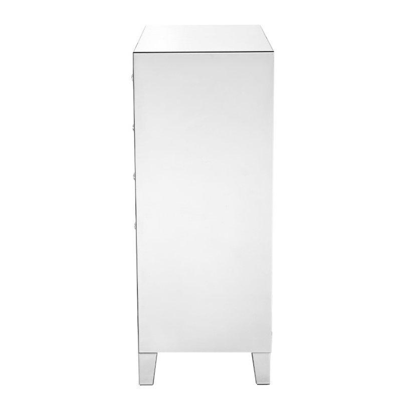 Elegant Decor 5 Drawer Chest 24 in x 18 in x 45 in.in clear mirror (MF6-1051)