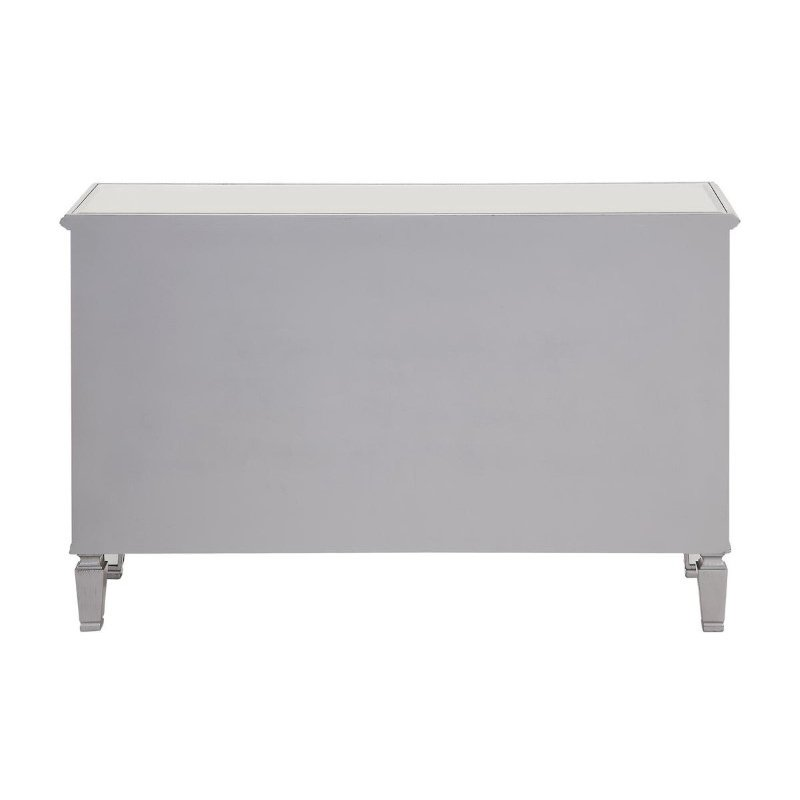 Elegant Decor 6 Drawer Dresser 48 in. x 18 in. x 32 in. in Silver paint (MF6-1017S)