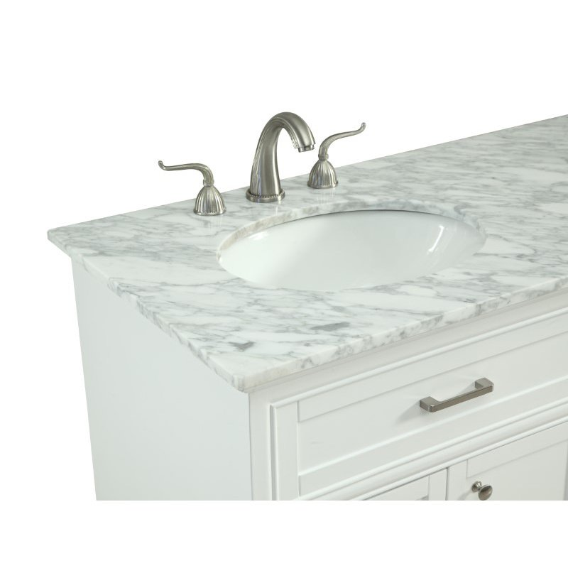 Elegant Decor 60 in. Double Bathroom Vanity Set in White (VF15060DWH)