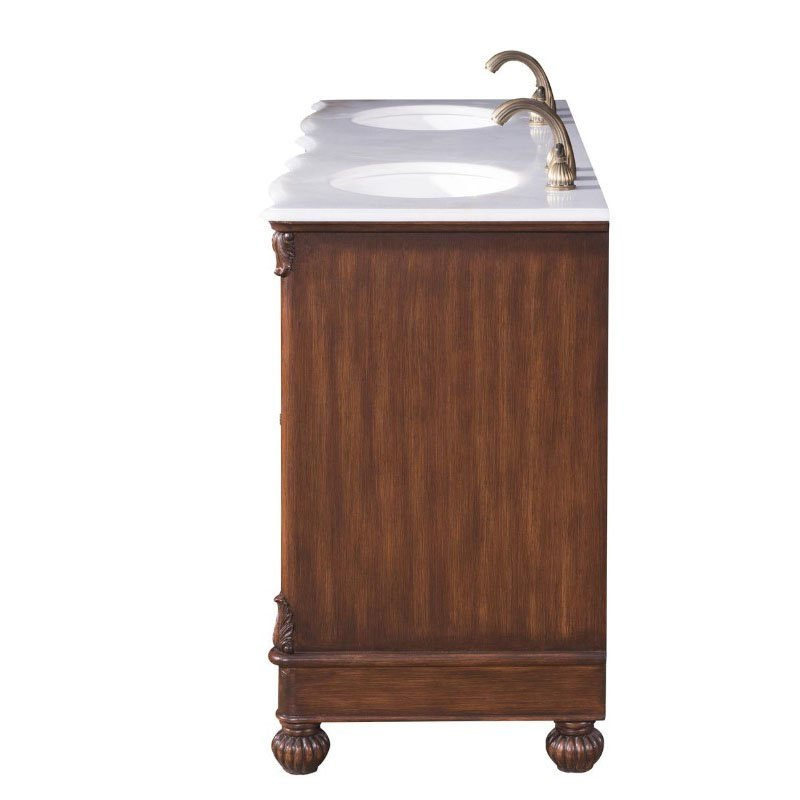 Elegant Decor 60 in. Double Bathroom Vanity (VF-1048)