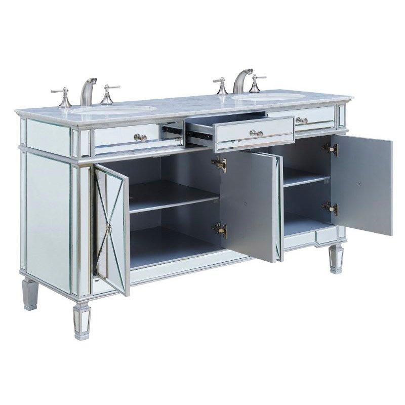 Elegant Decor 60 in. Double Bathroom Vanity (VF-1102)