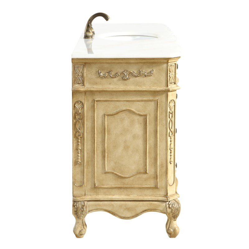 Elegant Decor 60 in. Single Bathroom Vanity Set in Antique Beige (VF101S60AB)