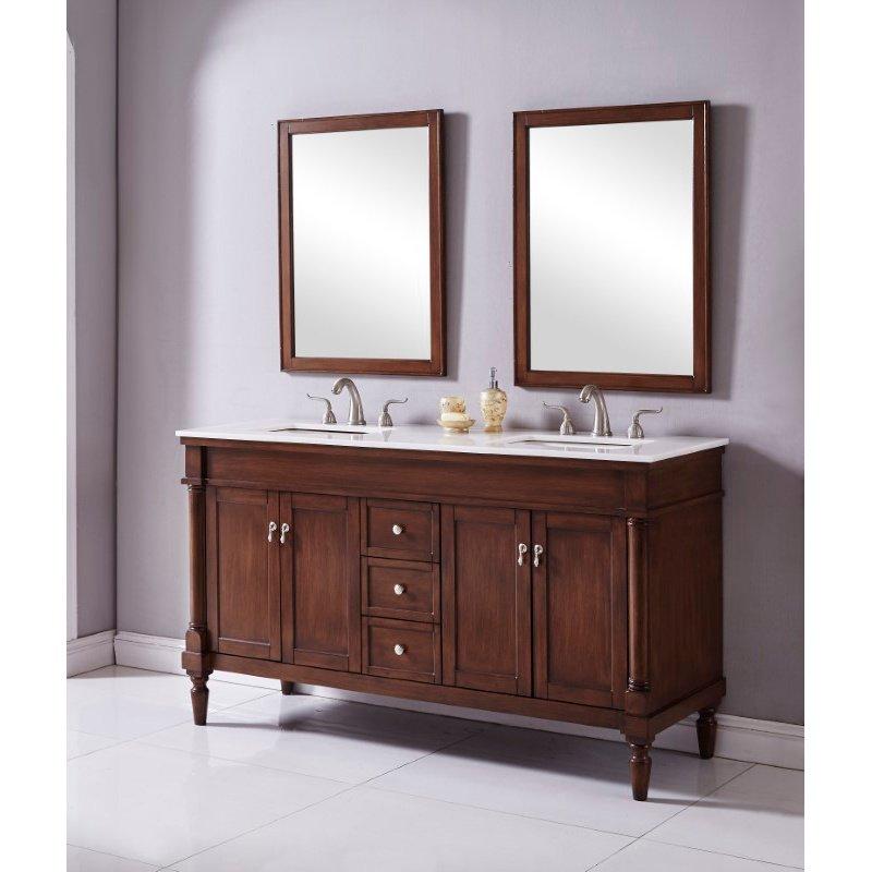 Elegant Decor 60 in. Single Bathroom Vanity Set in Walnut (VF13060DWT)