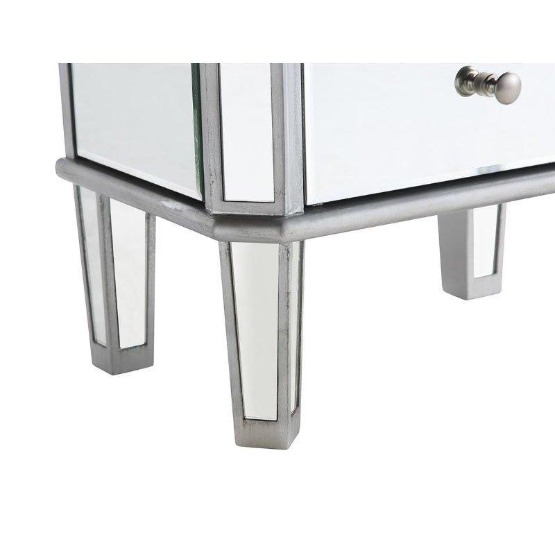 Elegant Decor 7 Drawer Jewelry Armoire 18 in. x 12 in. x 41 in. in Silver Clear (MF6-1003SC)