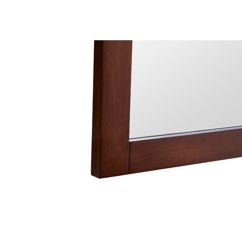 Elegant Decor Americana 24 in. Contemporary Furniture Mirror in Teak (VM15024TK)