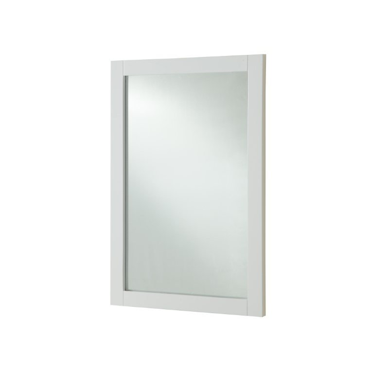 Elegant Decor Americana 24 in. Contemporary Furniture Mirror in White (VM15024WH)