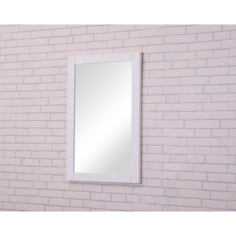 Elegant Decor Aqua 22 in. Contemporary Furniture Mirror in White (VM-2001)