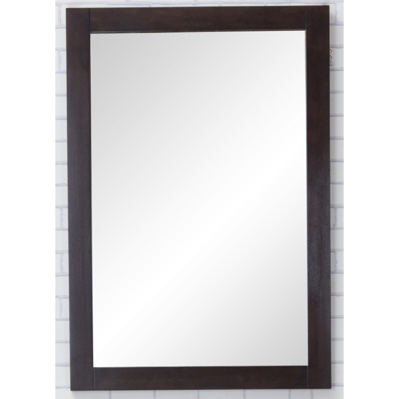 Elegant Decor Aqua Vanity Mirror 22in. x 32in. in Dark Walnut (VM2005)