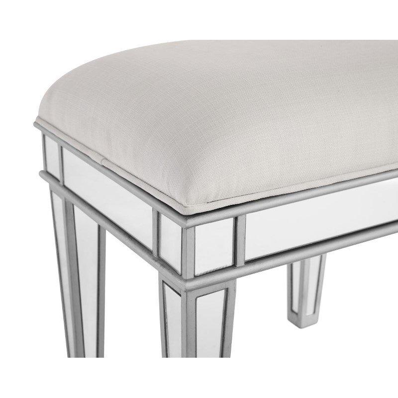 Elegant Decor Chair 18 in. x 14 in. x 18 in. in Silver paint (MF6-1007S)