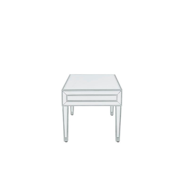Elegant Decor coffee table 40in. W x 20in. D x 18in. H in antique silver paint (MF72022)