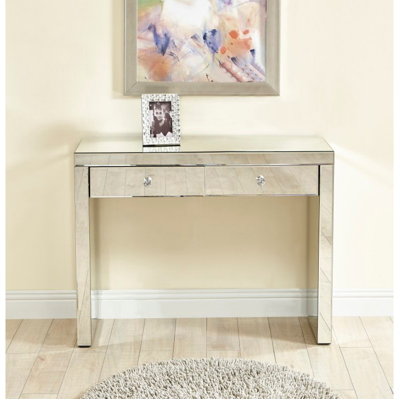Elegant Decor Console Table 39 in x 14 x30 in. in Clear (MF6-1052)