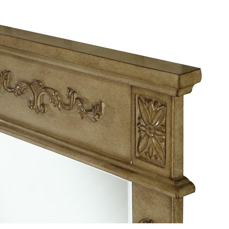 Elegant Decor Danville 22 in. Traditional Furniture Mirror in Antique Beige (VM-1003)