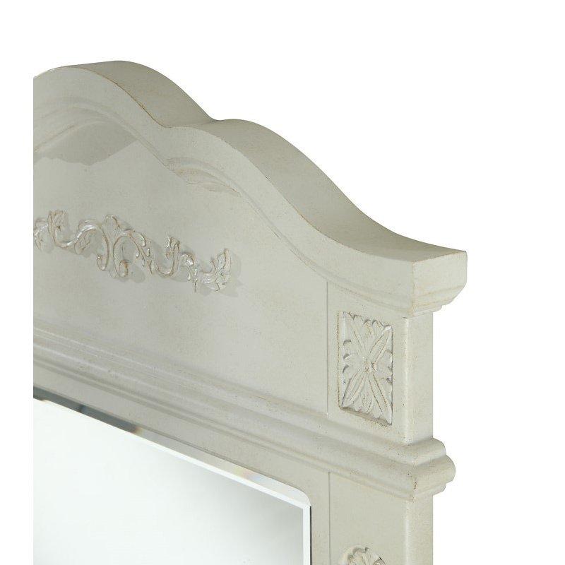 Elegant Decor Danville 24 in. Traditional Furniture Mirror in Antique White (VM-1006)