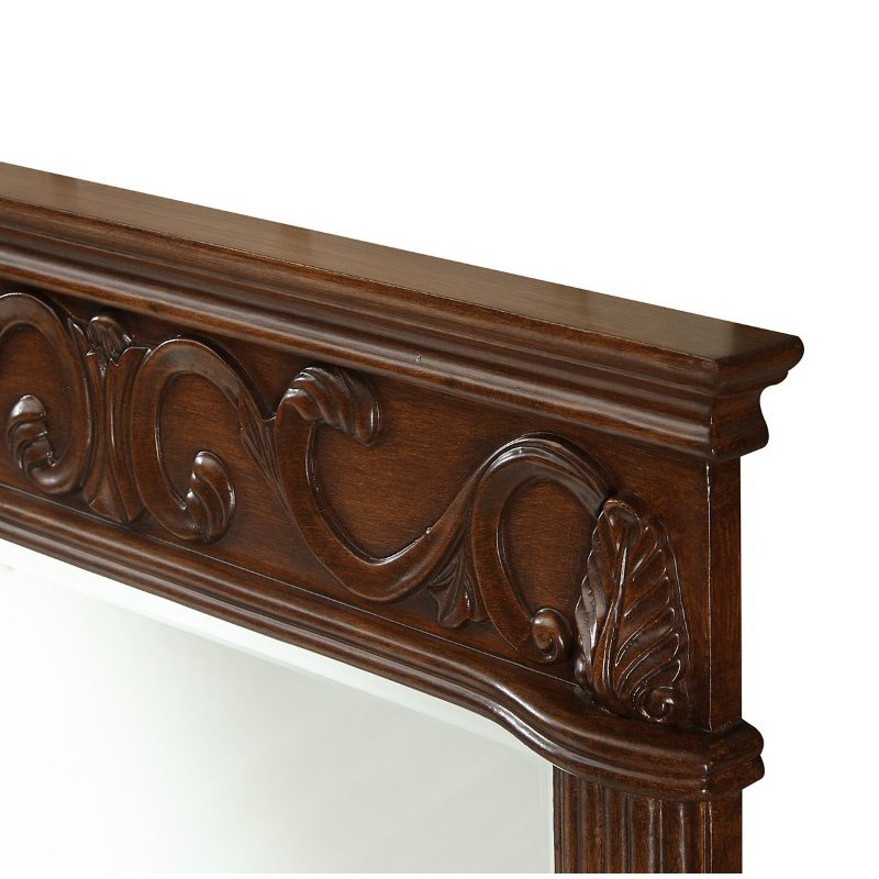 Elegant Decor Danville 25 in. Traditional Furniture Mirror in Brown (VM-1007)