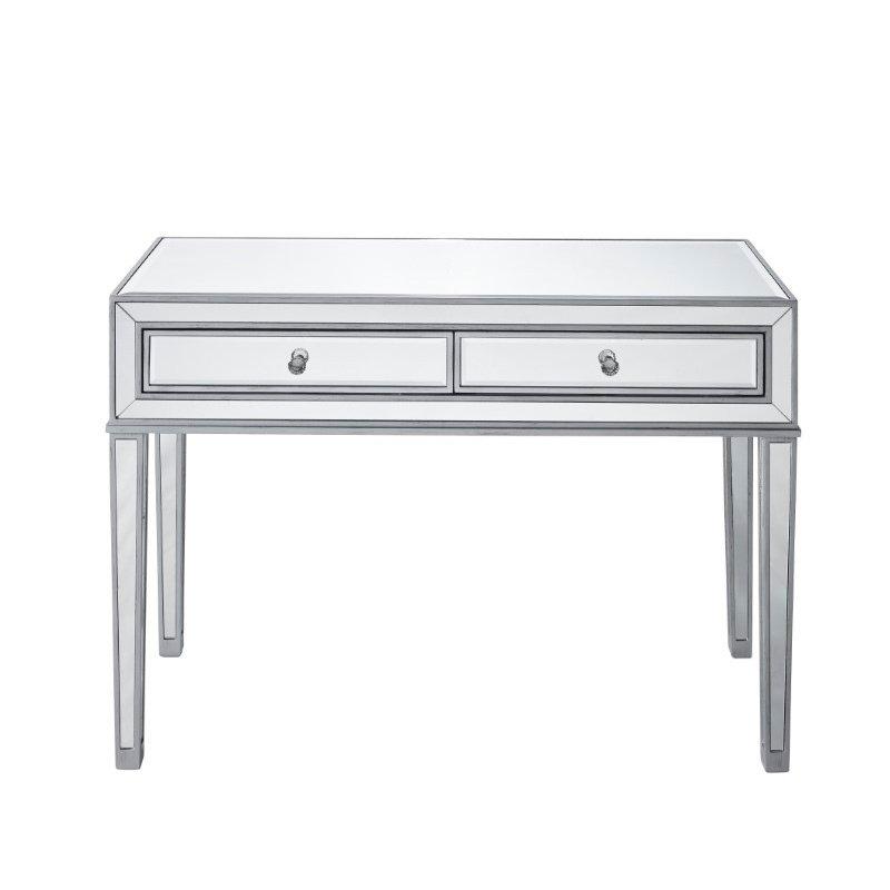 Elegant Decor Desk 42in. W x 18in. D x 30in. H in antique silver paint (MF72006)