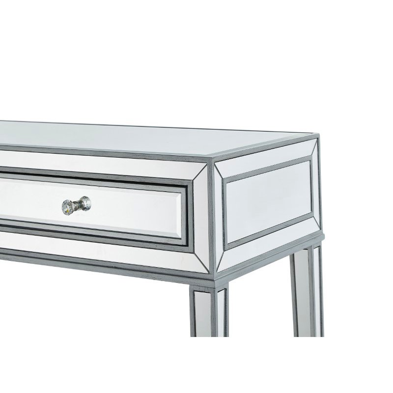 Elegant Decor Desk 42in. W x 18in. D x 30in. H in antique silver paint (MF72006)