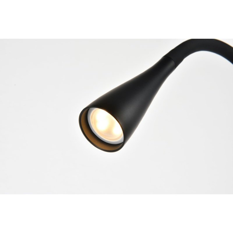 Elegant Decor Illumen Collection 1-Light matte black Finish LED Desk Lamp (LEDDS012)