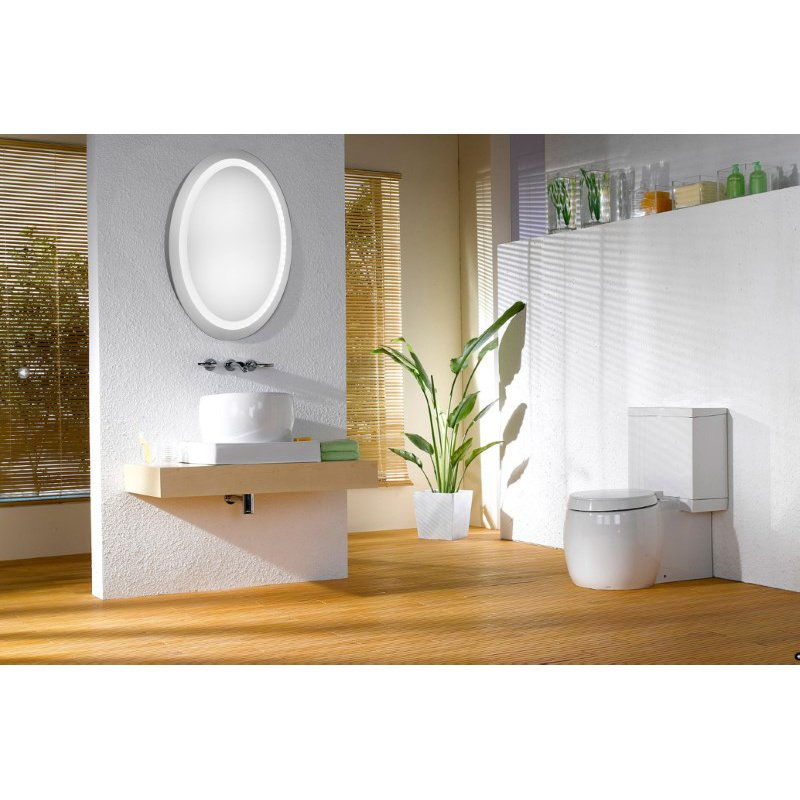 Elegant Decor LED Hardwired Mirror Oval W23H30 Dimmable 5000K (MRE-6009)