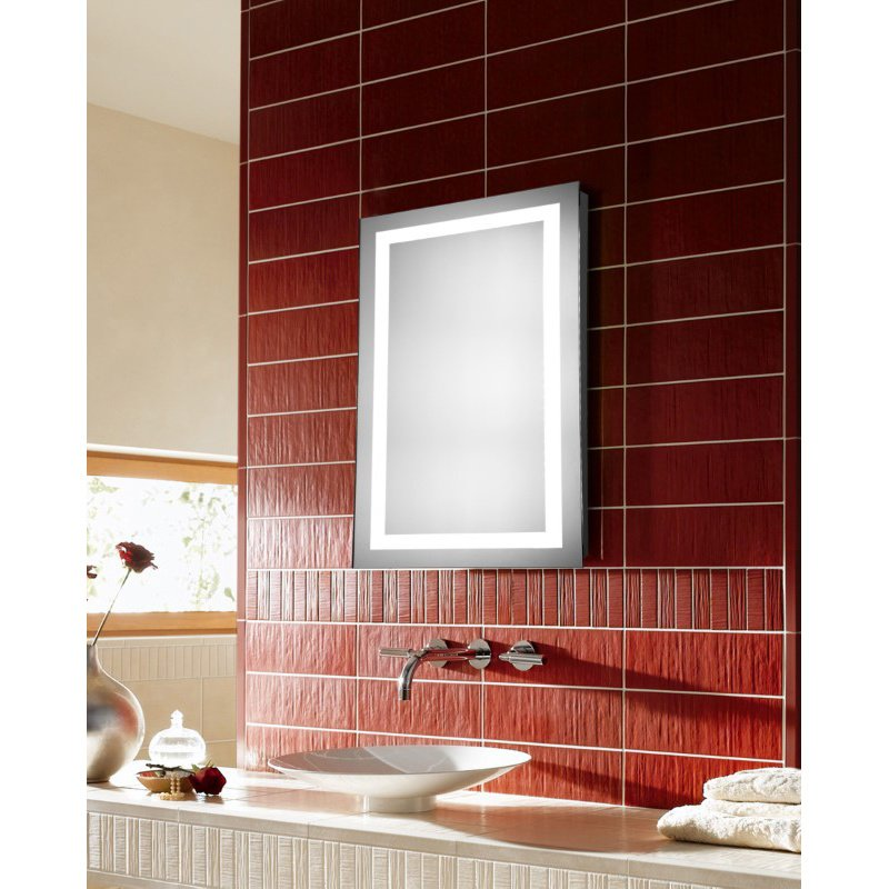 Elegant Decor LED Hardwired Mirror Rectangle W24H30 Dimmable 5000K (MRE-6003)