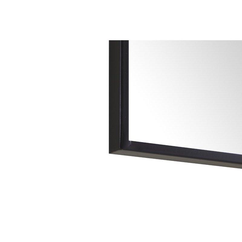 Elegant Decor Metal frame Rectangle Mirror 24 inch Black (MR4074BK)