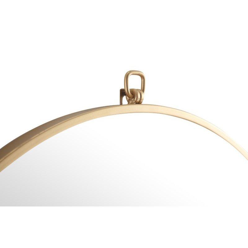 Elegant Decor Metal frame Round Mirror with decorative hook 24 inch Brass finish (MR4052BR)