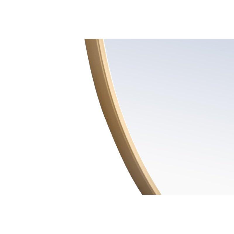 Elegant Decor Metal frame Round Mirror with decorative hook 28 inch Brass finish (MR4055BR)
