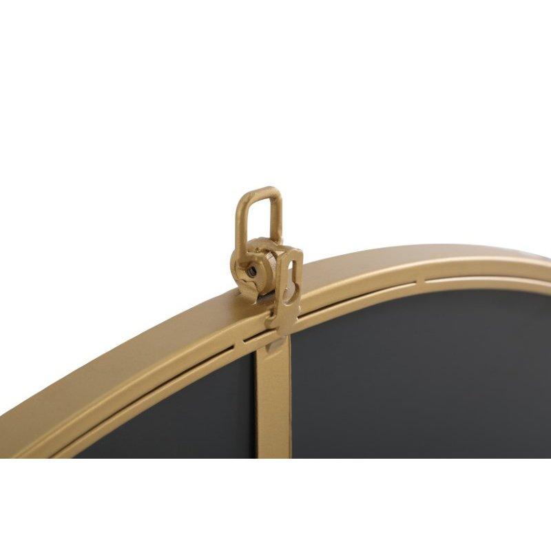 Elegant Decor Metal frame Round Mirror with decorative hook 42 inch Brass finish (MR4065BR)