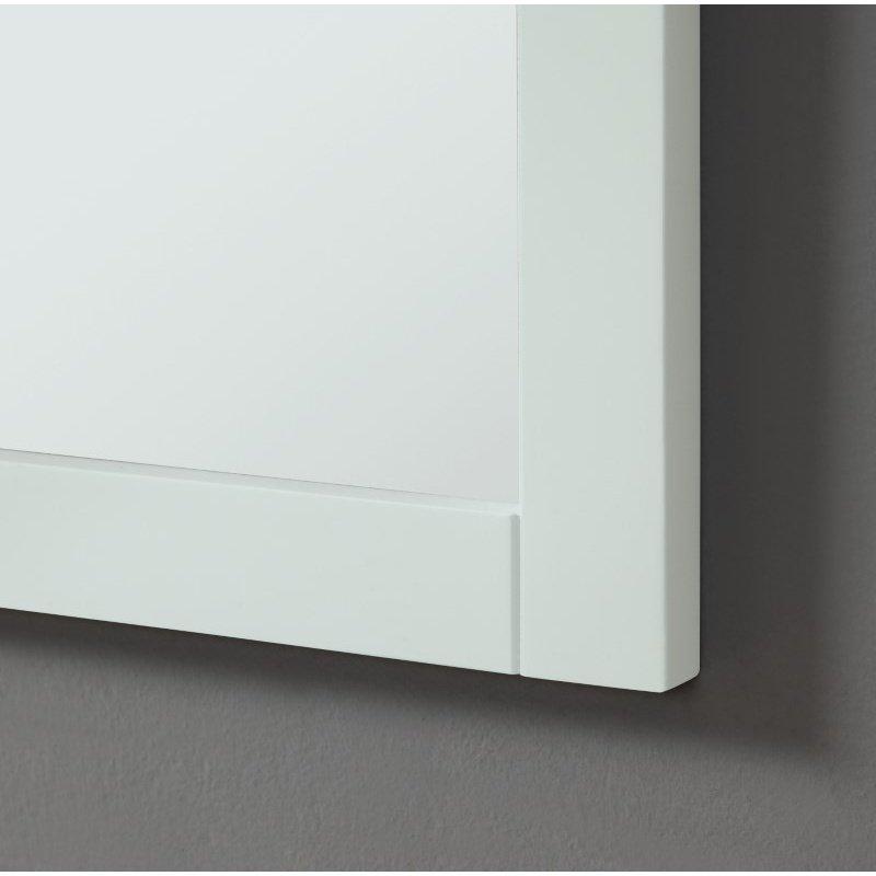 Elegant Decor Park Avenue 30 in. Contemporary Furniture Mirror in White (VM12530WH)