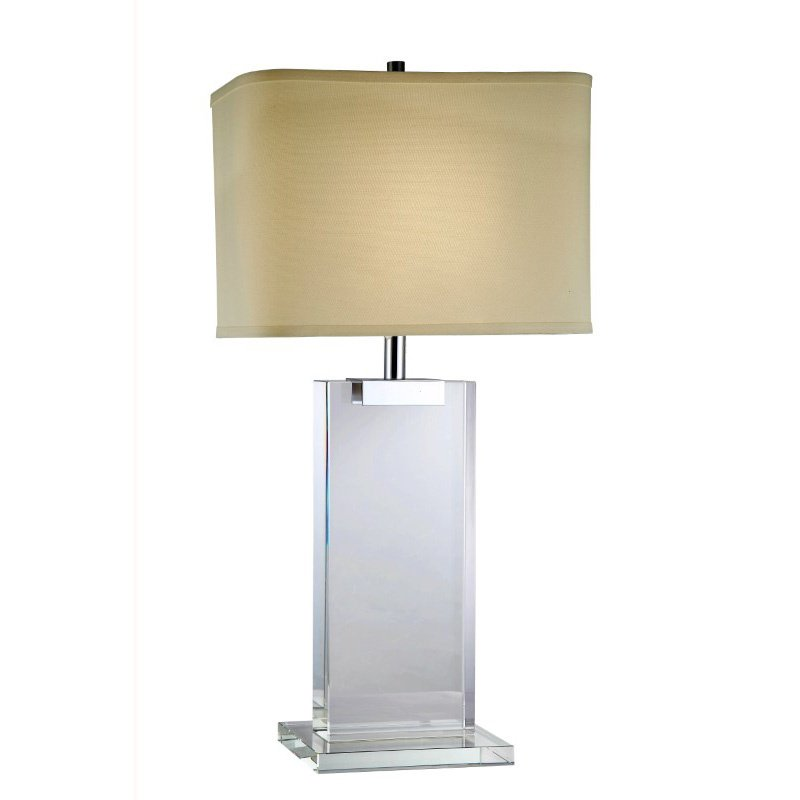 Elegant Decor Regina Collection 1-Light Chrome Crystal Table Lamp (TL1001)