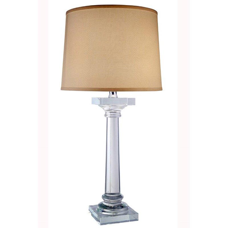 Elegant Decor Regina Collection 1-Light Chrome Crystal Table Lamp (TL1005)