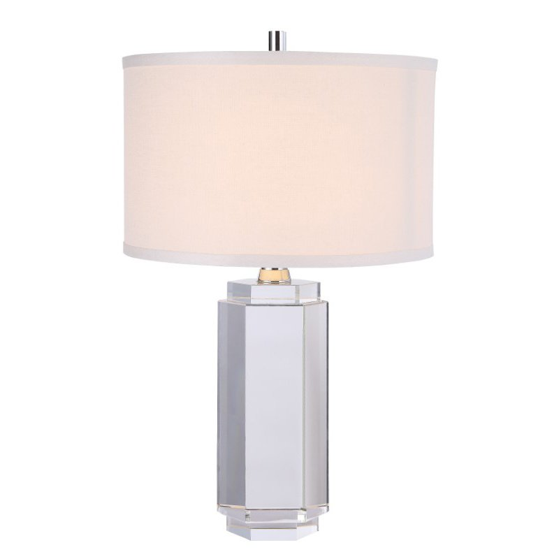 Elegant Decor Regina Collection 1-Light Chrome Crystal Table Lamp (TL1014)