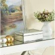 Elegant Decor Sparkle 10 in. Contemporary Crystal Jewelry box in Clear (MR9119)