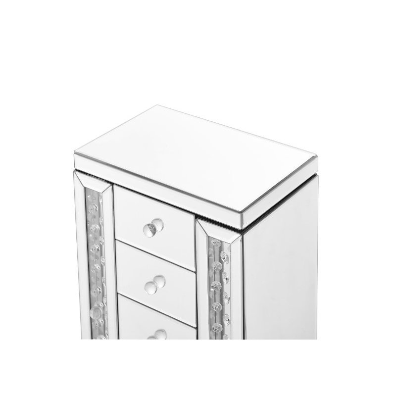 Elegant Decor Sparkle 12 in. Contemporary Crystal Jewelry box in Clear (MR9120)